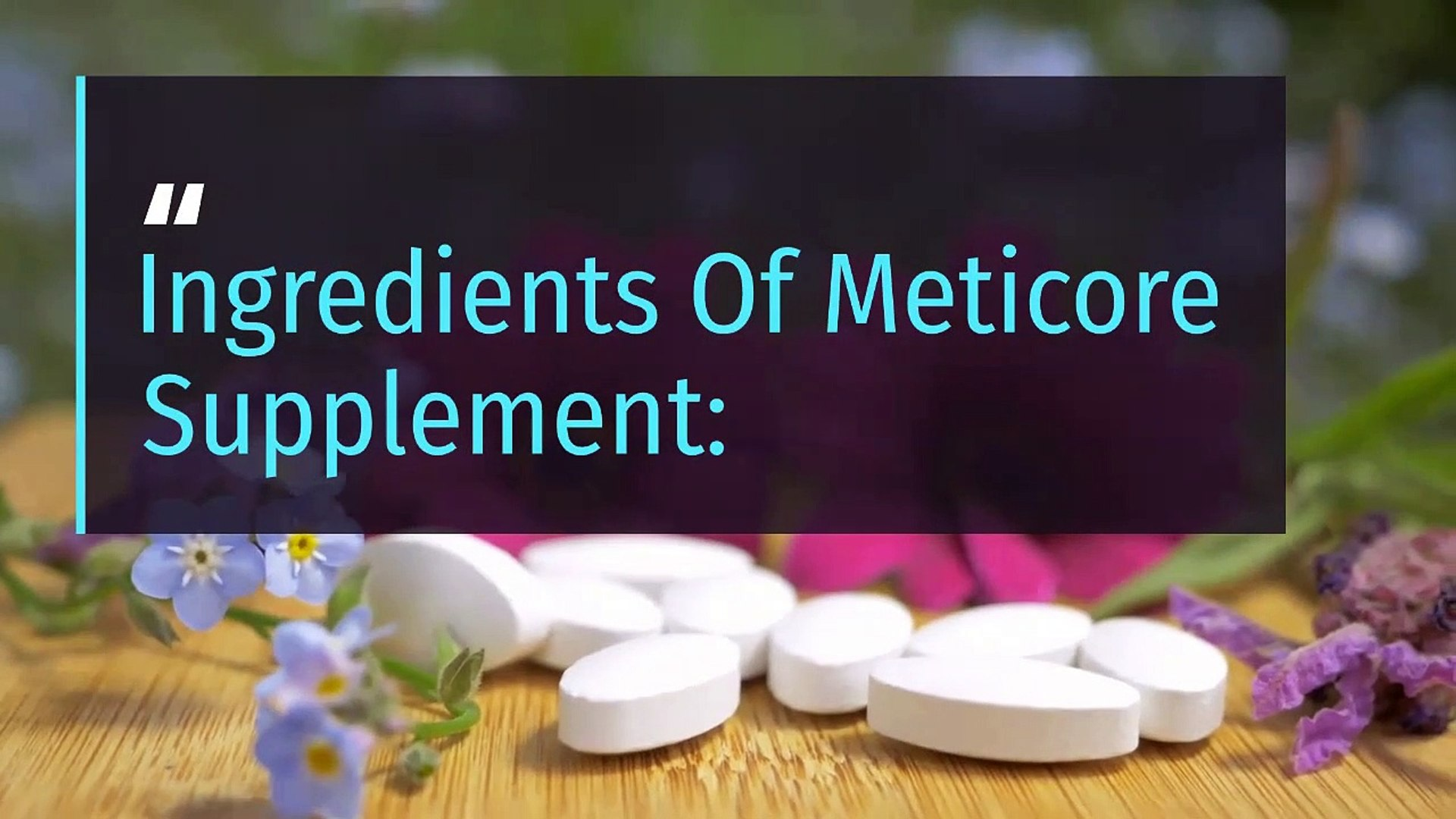 The supplement Meticore achieves a significant improvement in your health