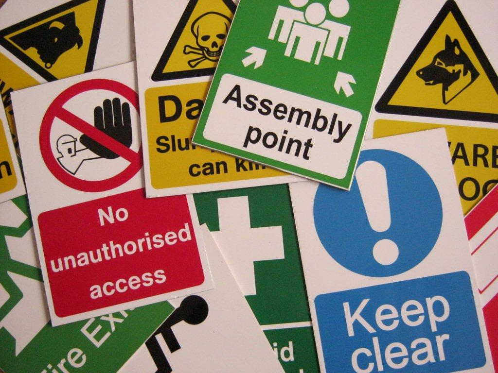 Choosing Health and Safety Stickers