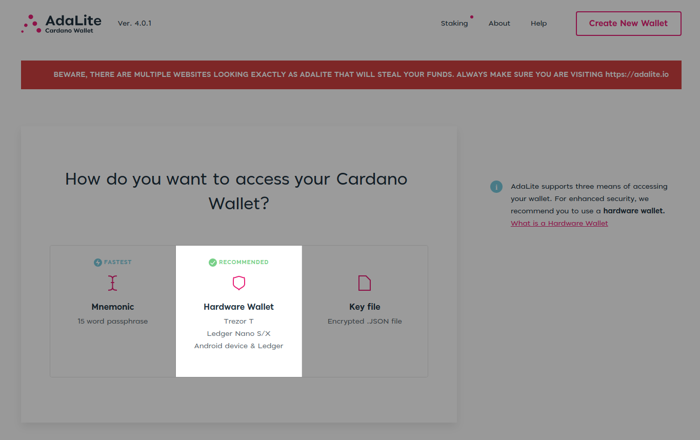 Read the complete details about ada cardano web wallet and make a good decision